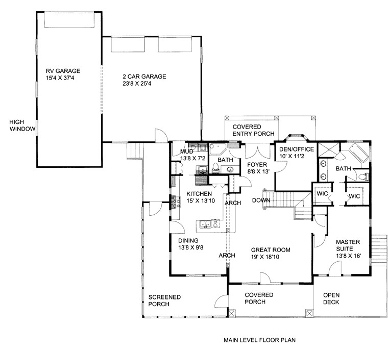14 delightful house plans with rv garage attached