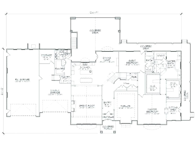 house plans with rv garage attached