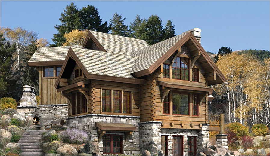 stone and log house plans