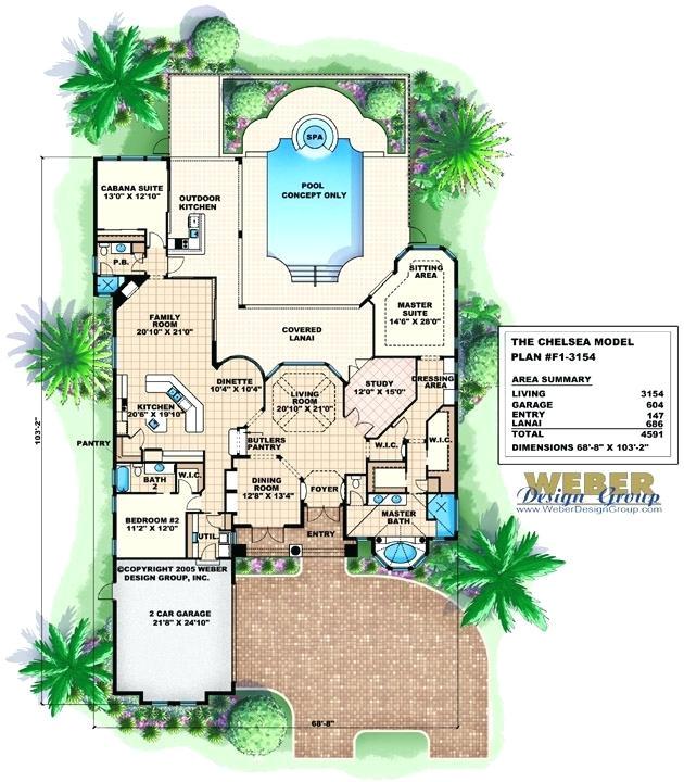 tuscan villa floor plans