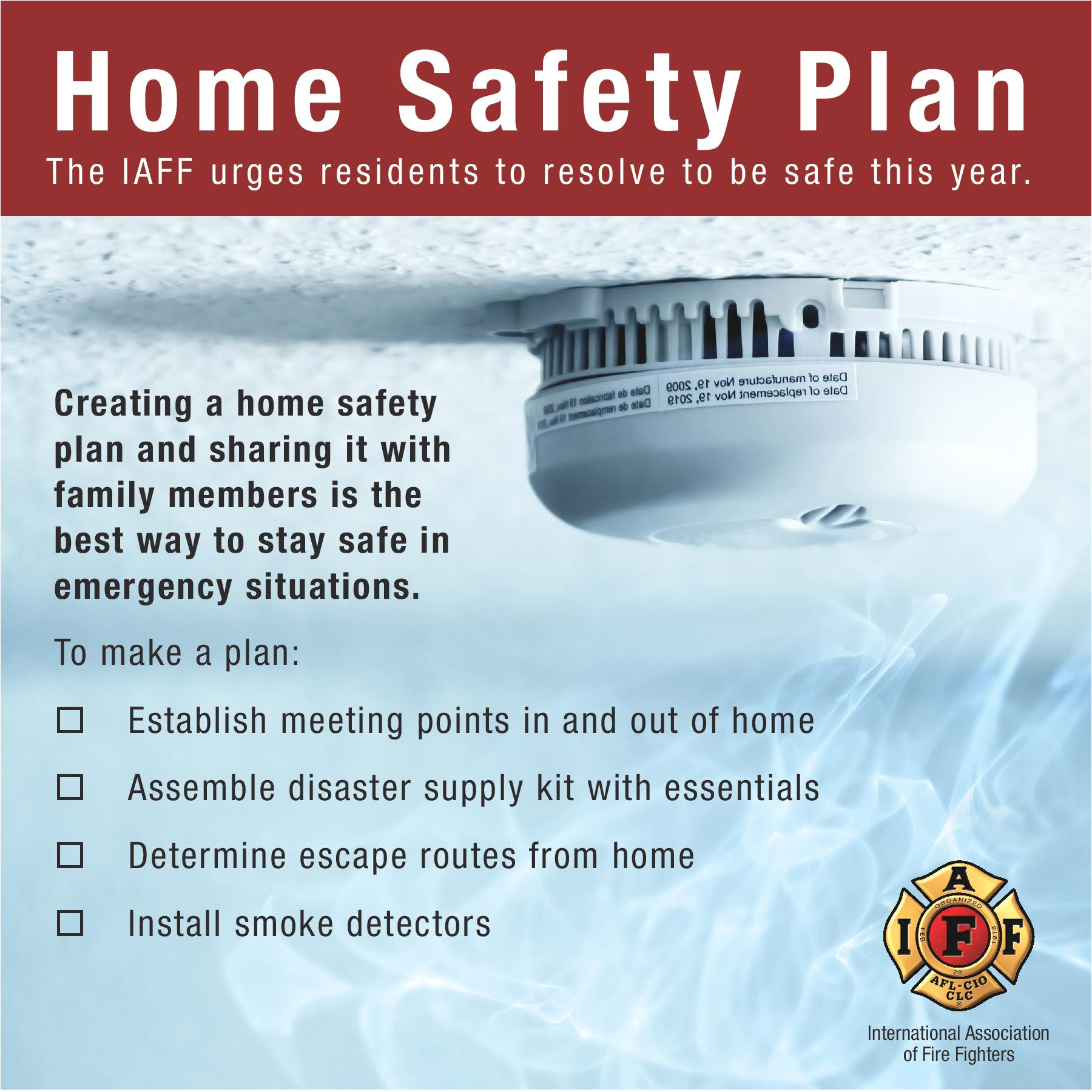 keep your family safe have a fire safety plan