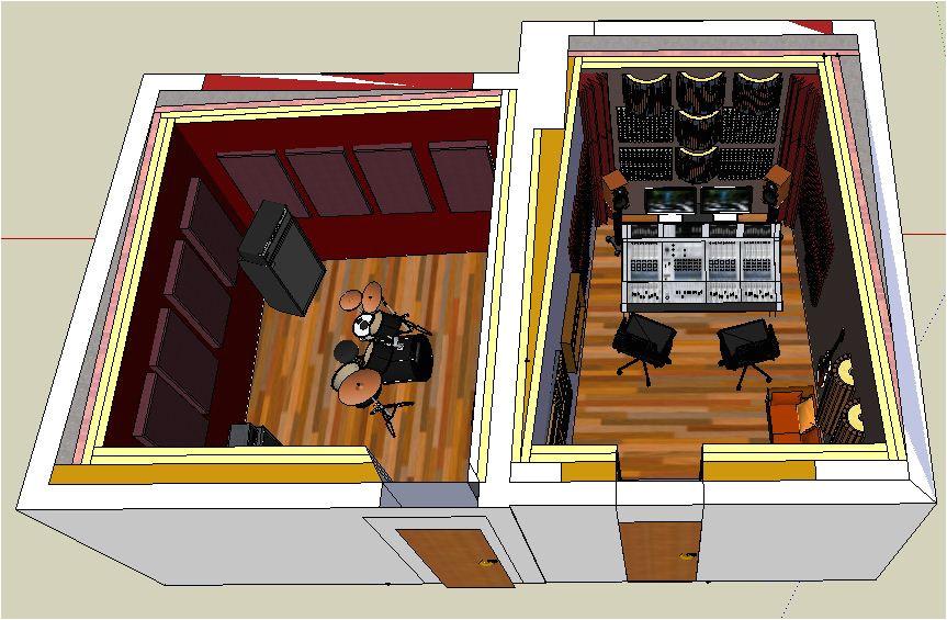 599302 small professional home recording studio italy