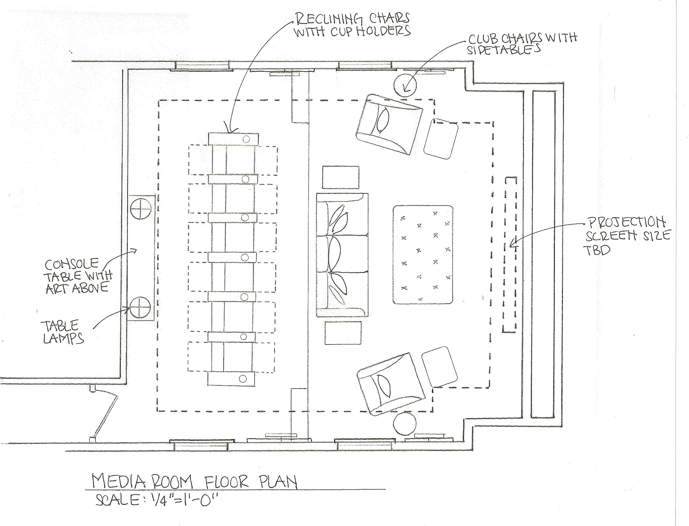 home theater room dimensions