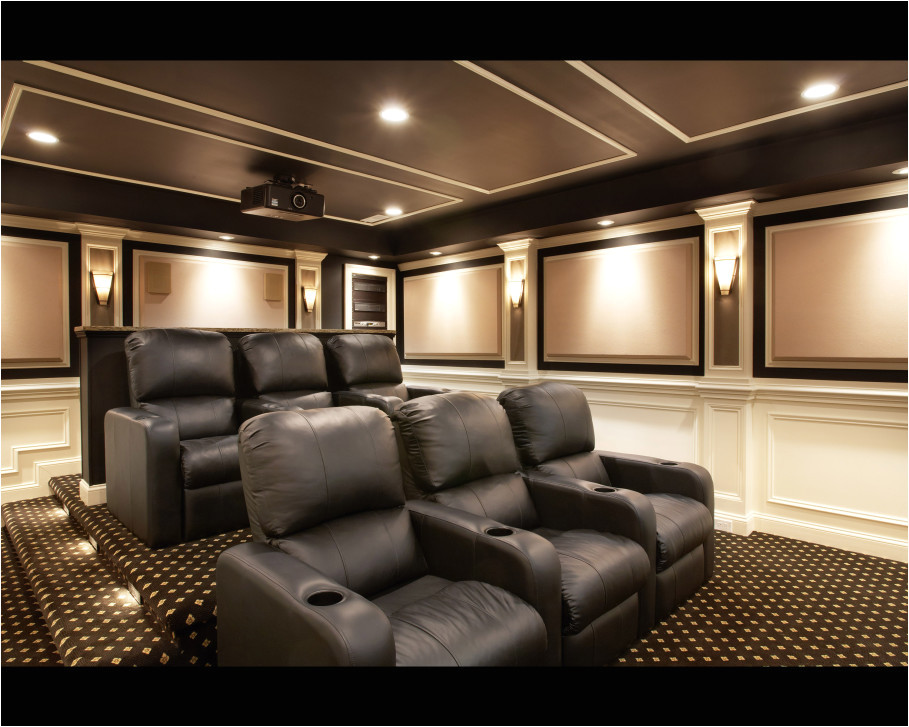 classy home theater design completing personal entertainment features
