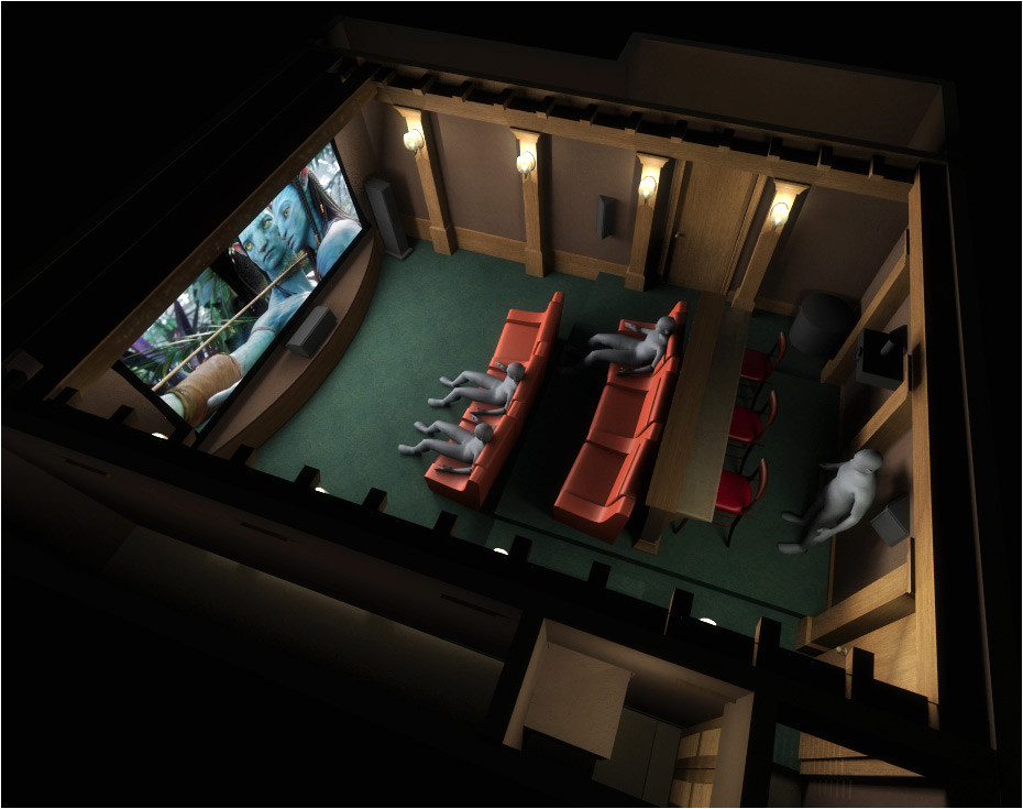1272959 home theater plan garage space 3d renders