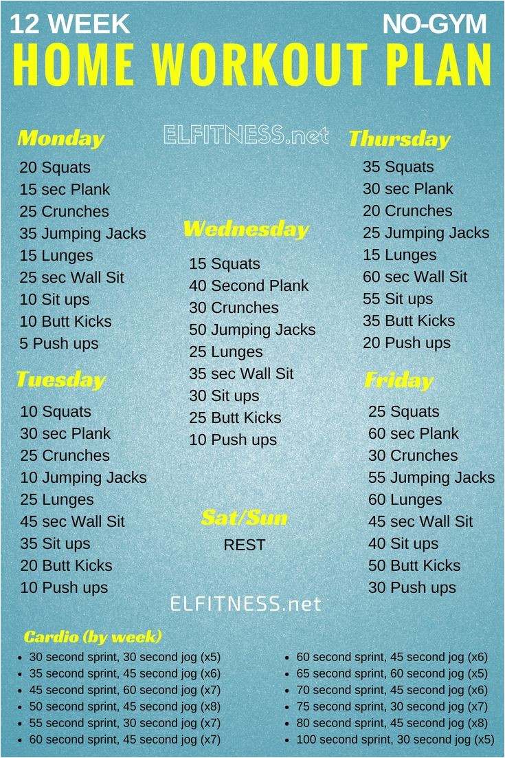 Home Work Out Plan the 25 Best Home Workout Plans Ideas On Pinterest 10