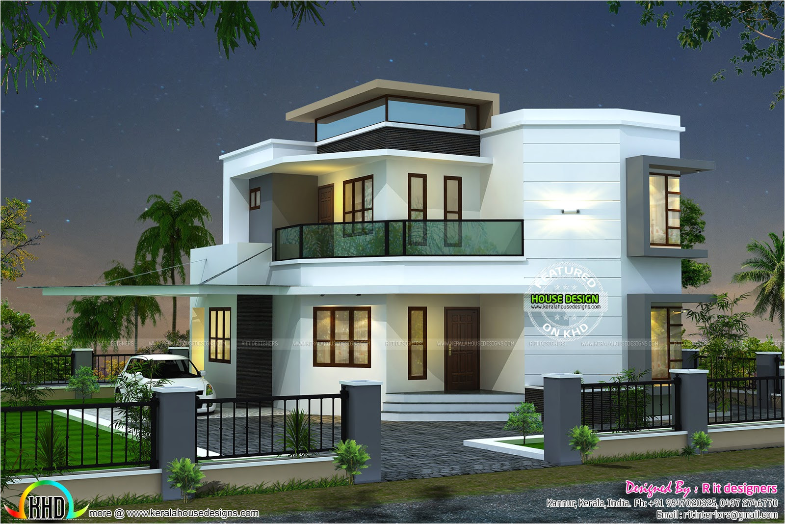 Homes Design Plan 1838 Sq Ft Cute Modern House Kerala Home Design and