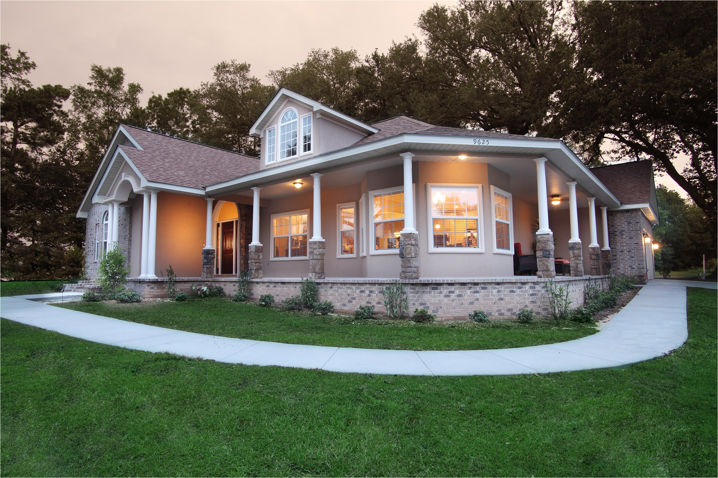 7495 modular home plans with porches