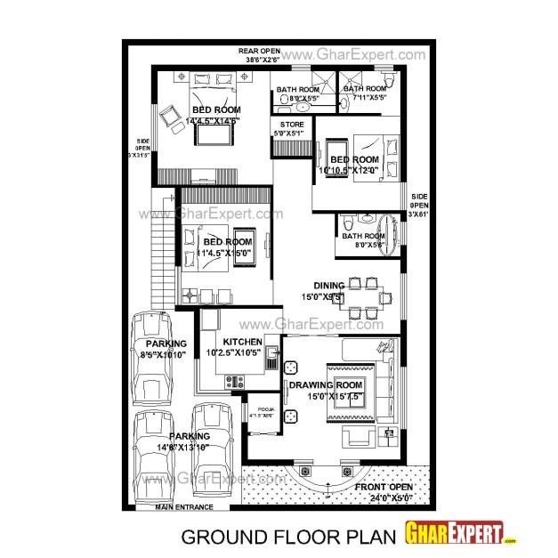 15x50 feet house plan