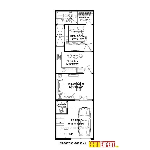 15x60 house plan