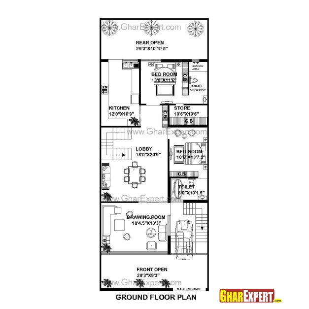 House Plan for 15 Feet by 60 Feet Plot Awesome House Plan for 30 Feet 75 Feet Plot Plot Size 250