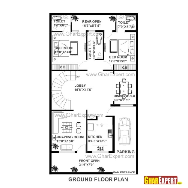 House Plan for 15 Feet by 60 Feet Plot Delightful House Plans for 40 X 60 Plot Homes Zone 15 60