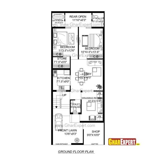 house plan for 15 feet by 60 feet plot