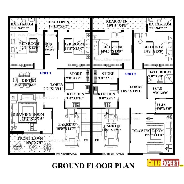 House Plan for 15 Feet by 60 Feet Plot Remarkable House Plan for 60 Feet 50 Feet Plot Plot Size