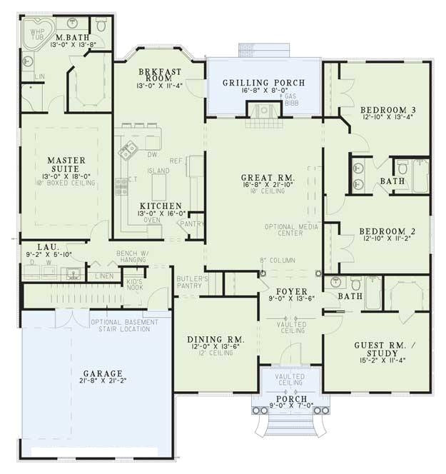 southern plan 2486 square feet 4 bedrooms 3 bathrooms 110 00573 inside house plans 5000 square feet with regard to household