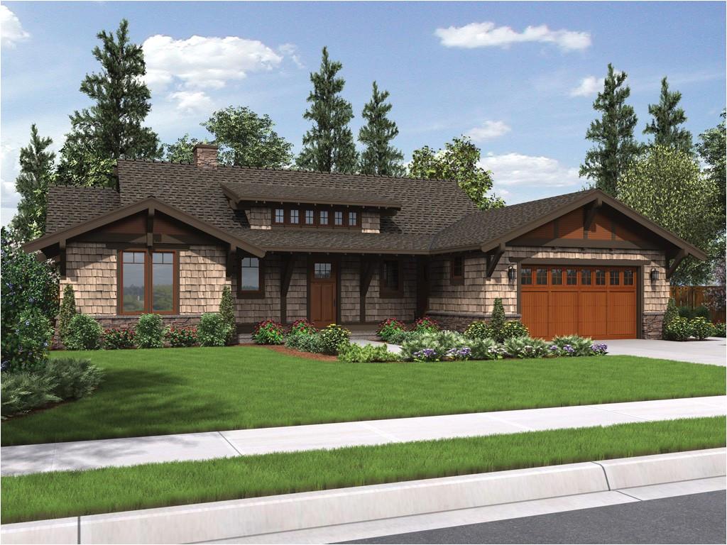 house plan meriwether craftsman ranch house plan