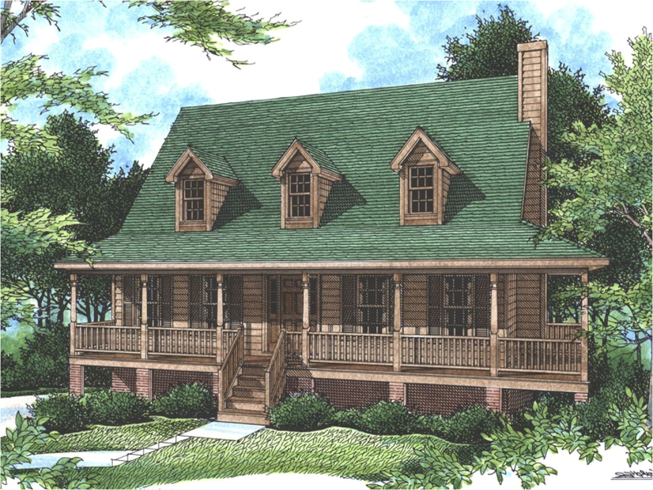 small rustic country house plans