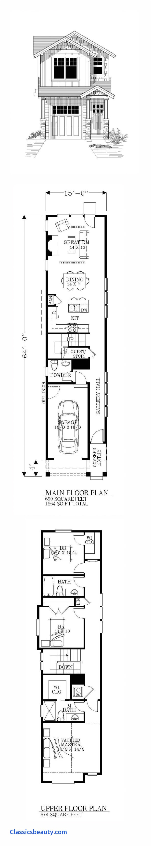 home plans for small lots inspirational very narrow lot house plans momchuri