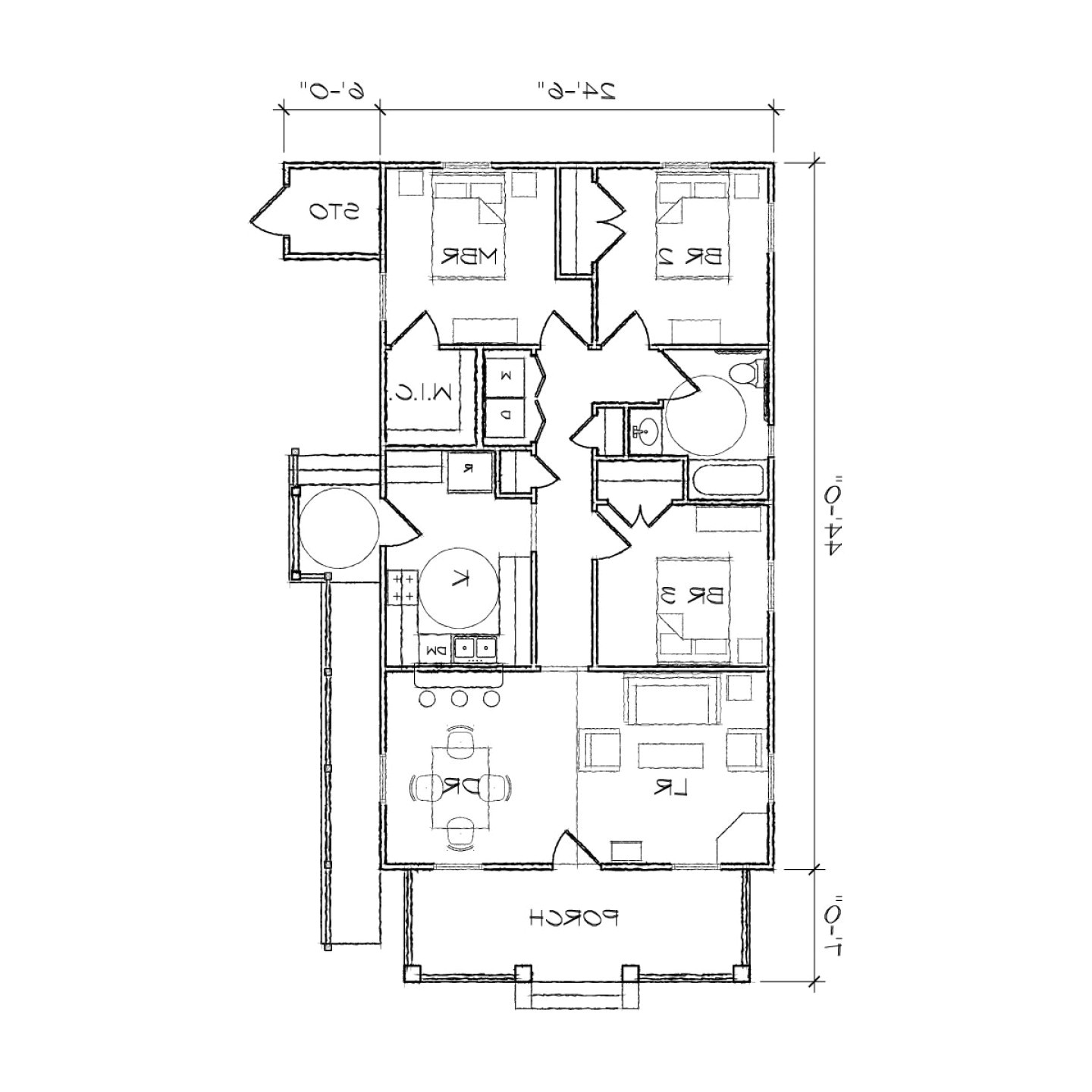 2 bedroom handicapped house plans