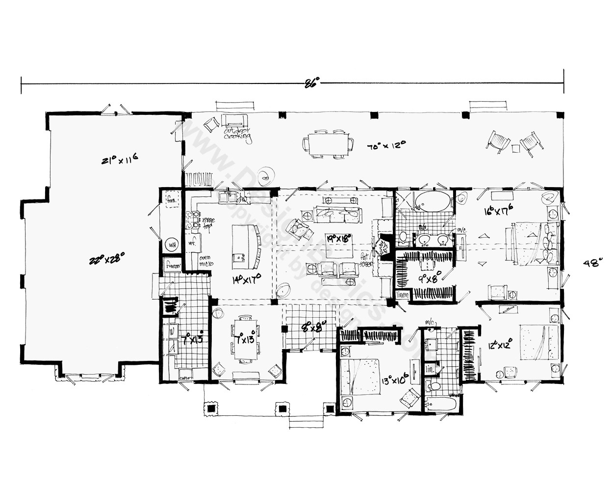 house plans for single person