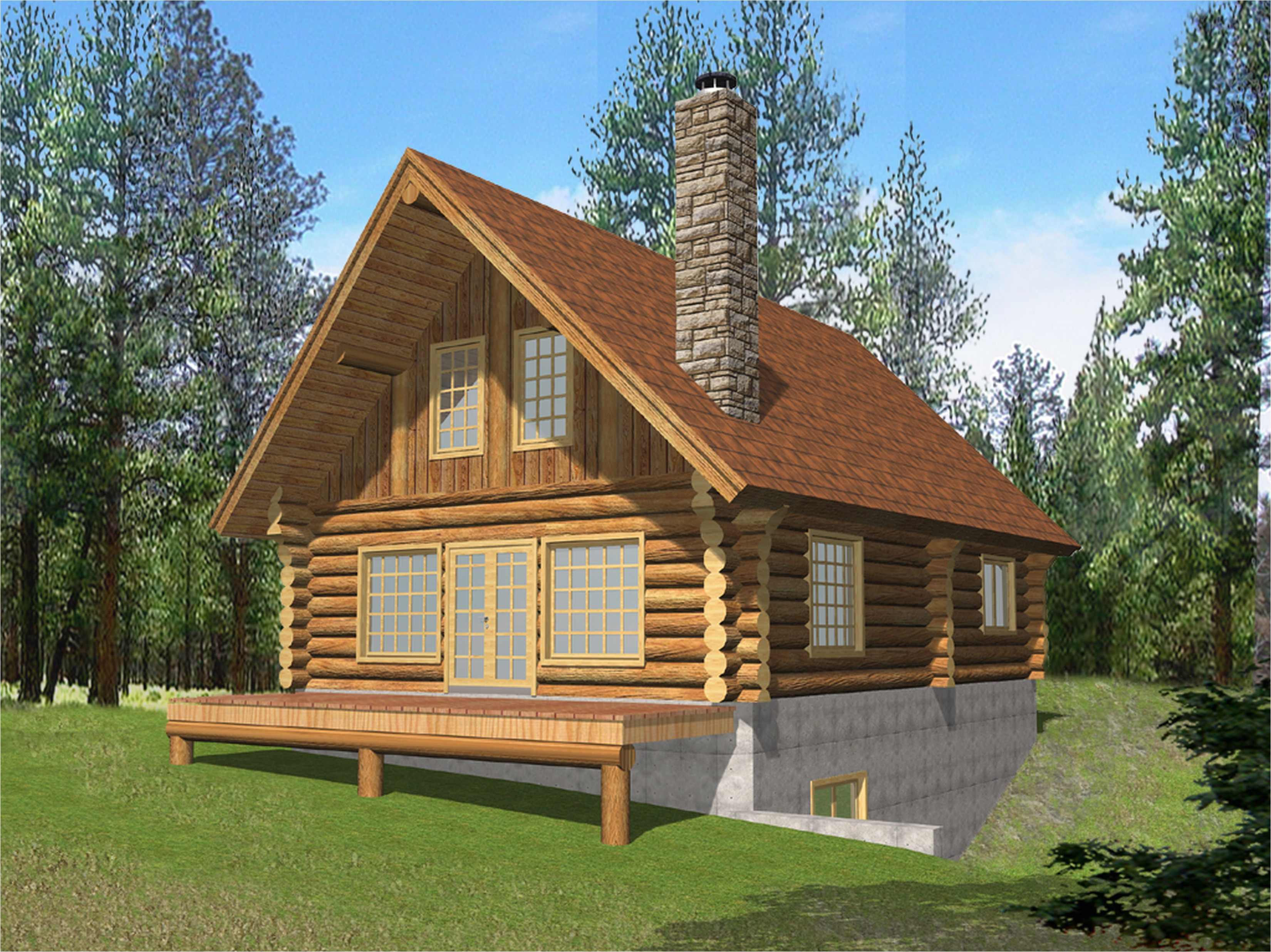 House Plans Log Homes Log Home Plans with Loft Smalltowndjs Com