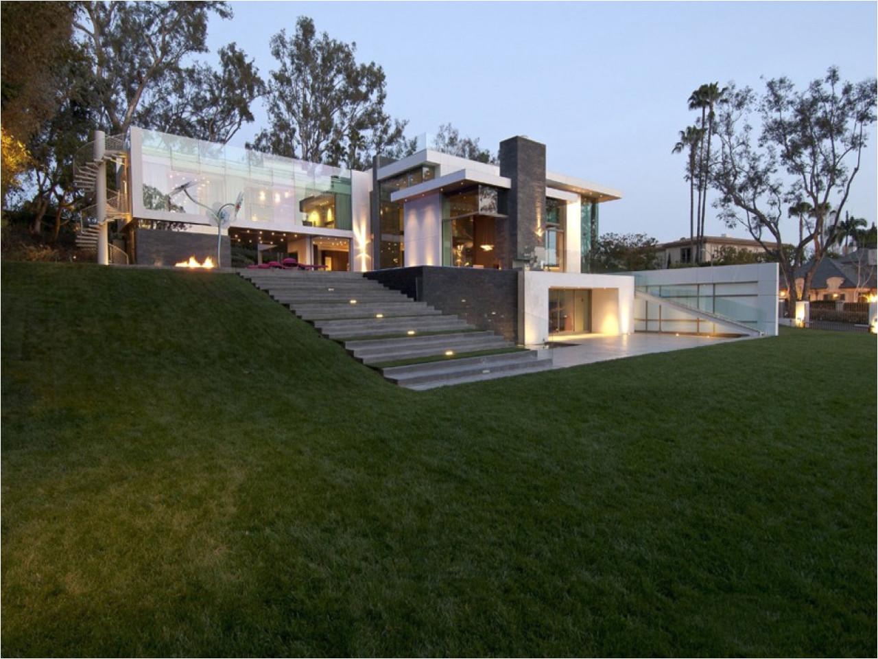 modern house on a slope