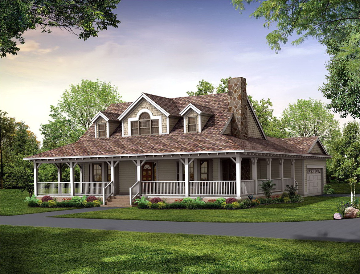 36644 house plan with wrap around porch one floor