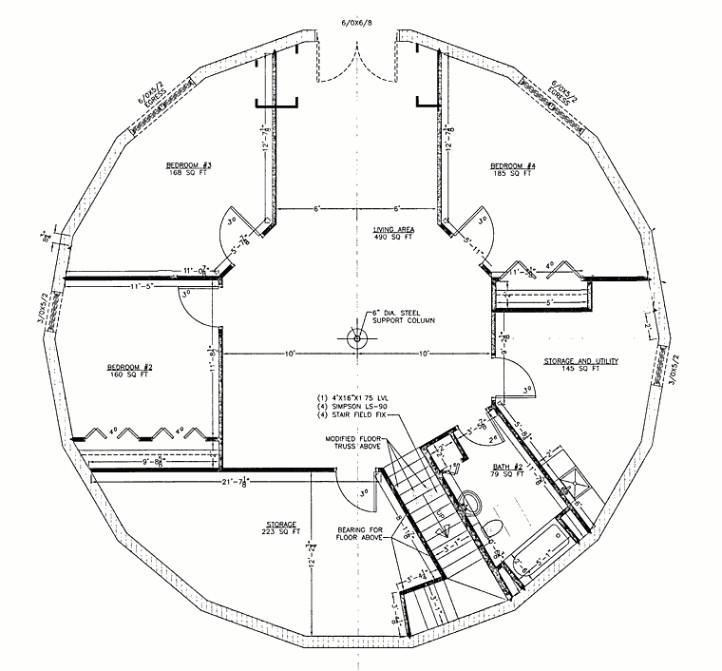 round house plans escortsea inside floor plans for round homes