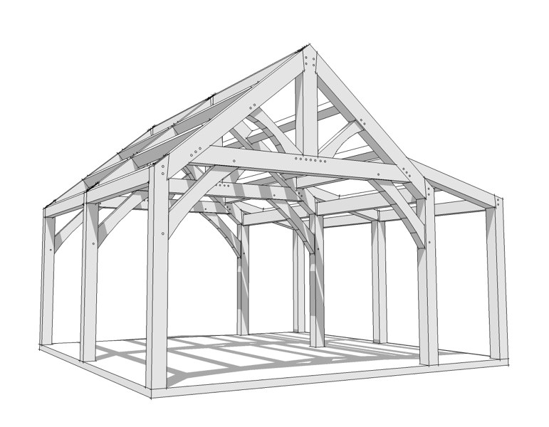 20x20 timber frame plan