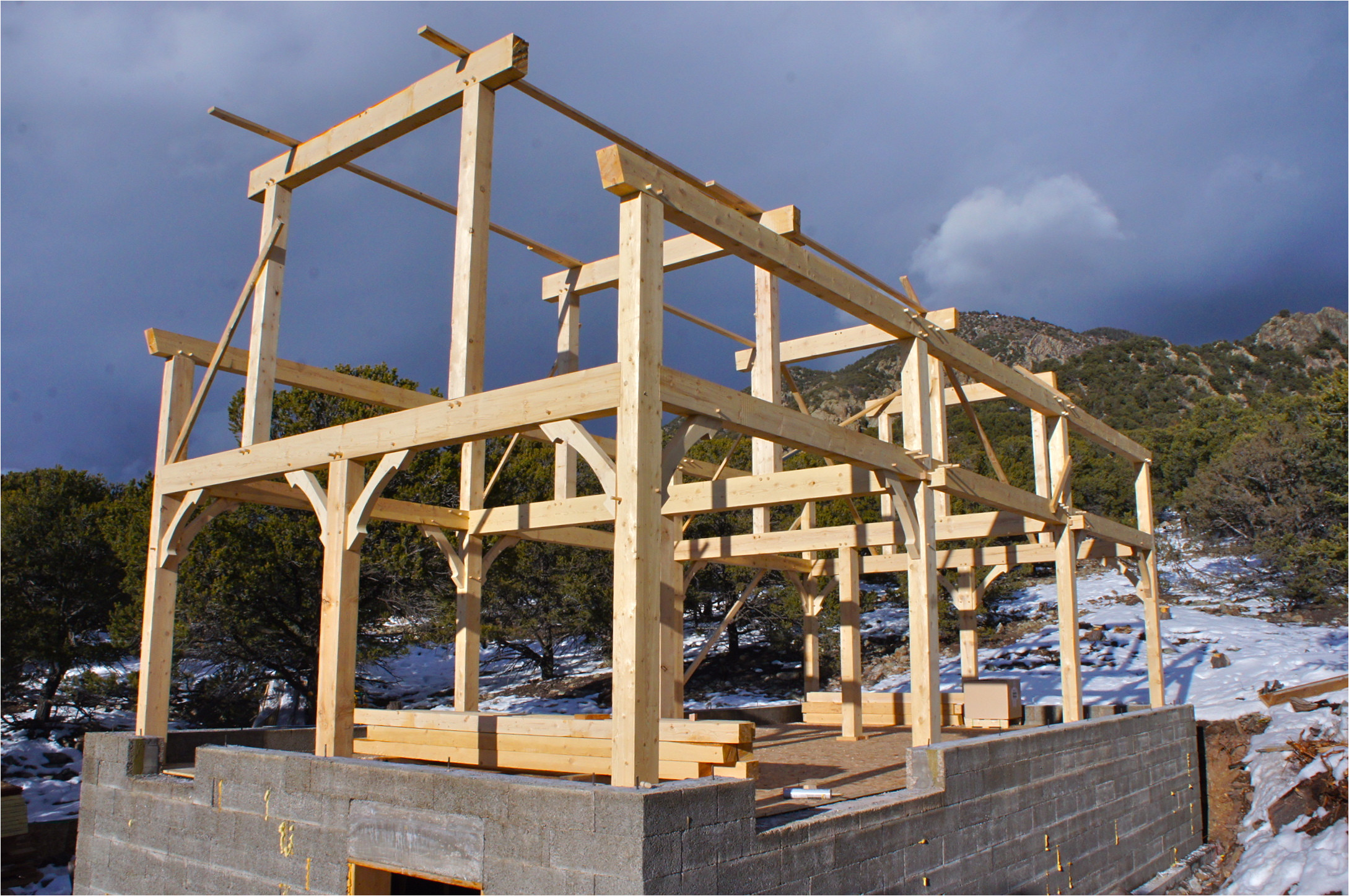 house plans timber frame construction