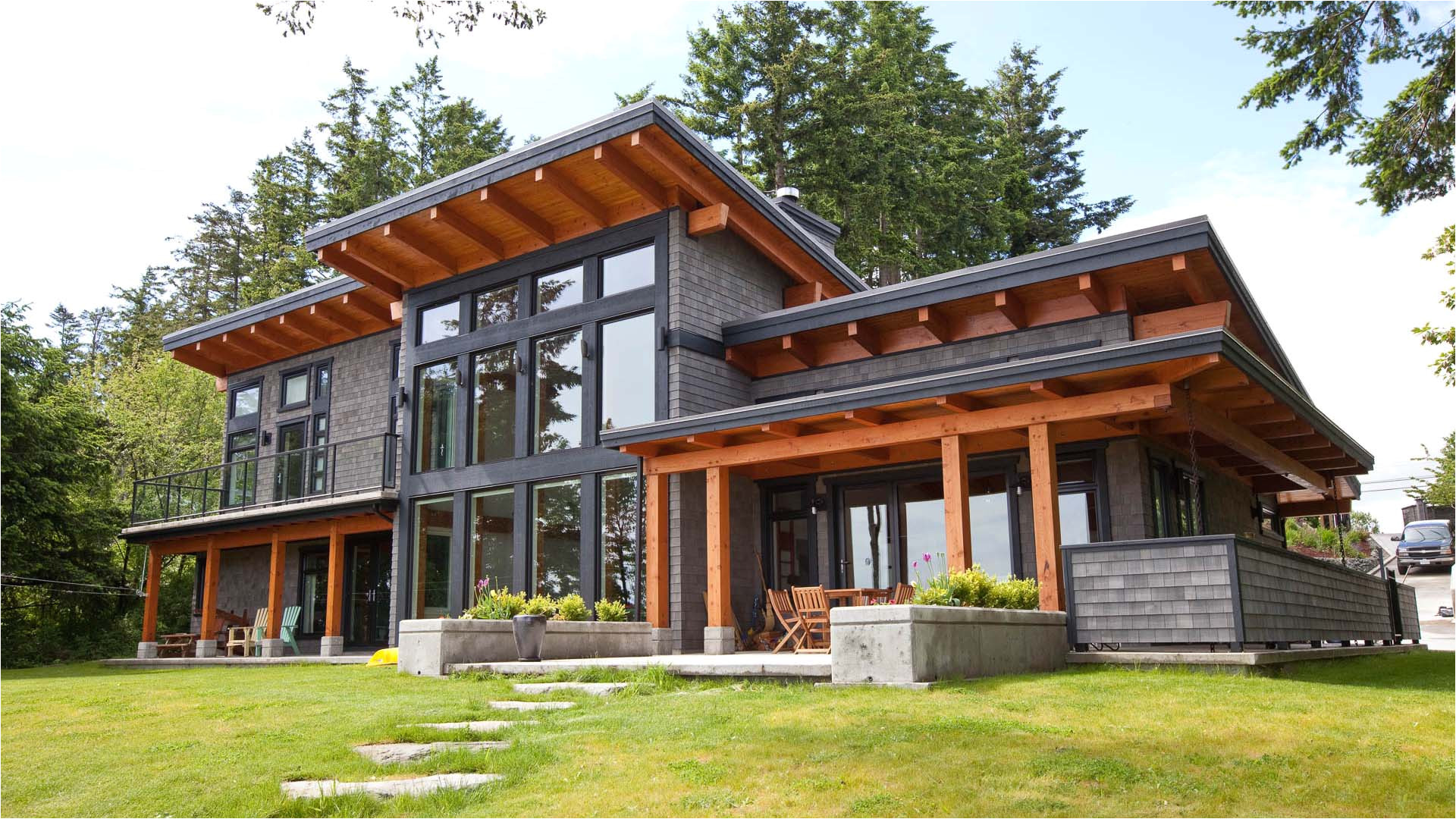 modern beachfront timber frame