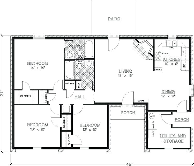 house plans under 200k to build