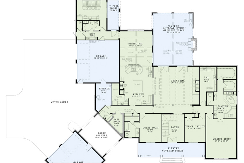 House Plans with A Safe Room House Plans with Safe Rooms Nelson Design Group