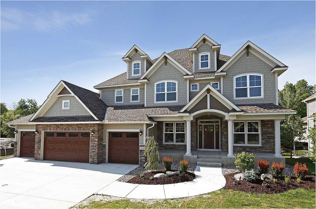storybook house plan with 4 car garage 73343hs