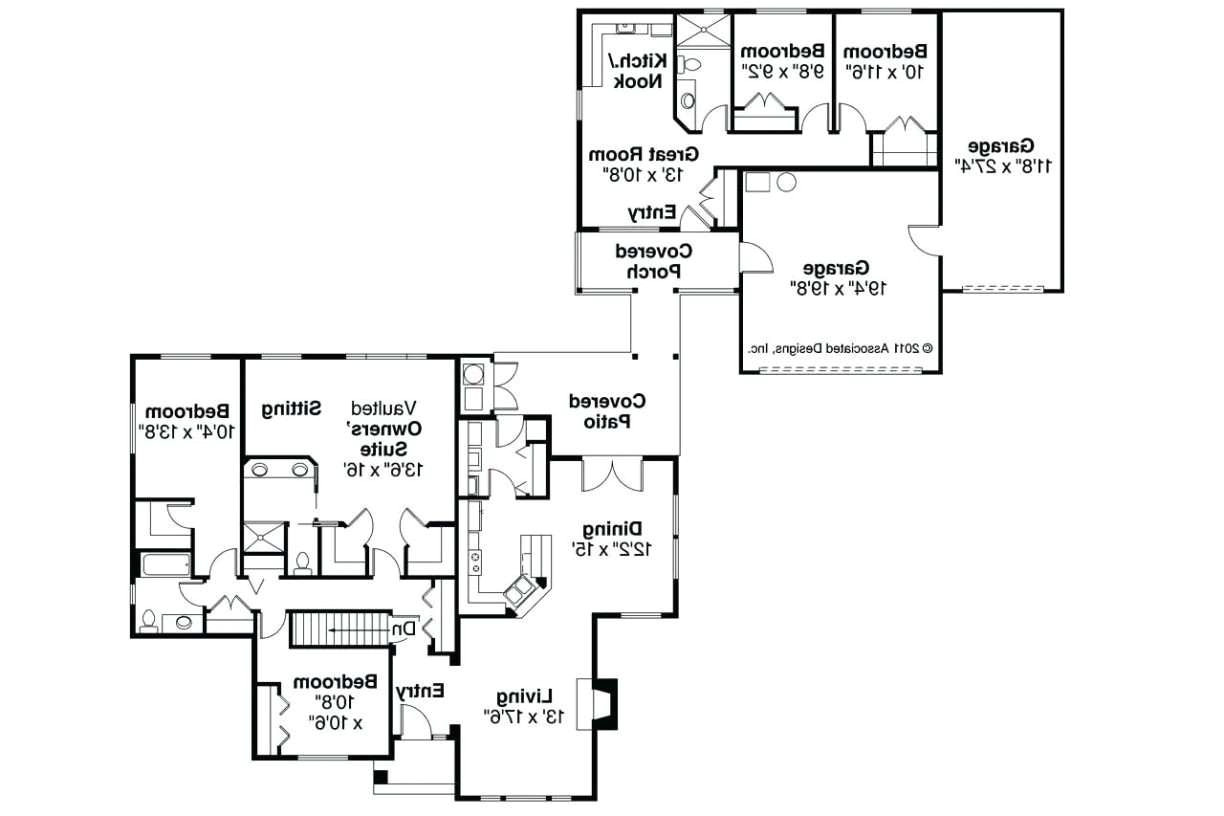home plans with apartments attached