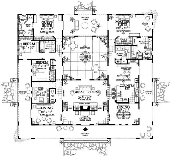 523360 open courtyard