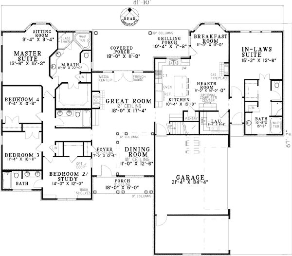 house plans with detached guest suite