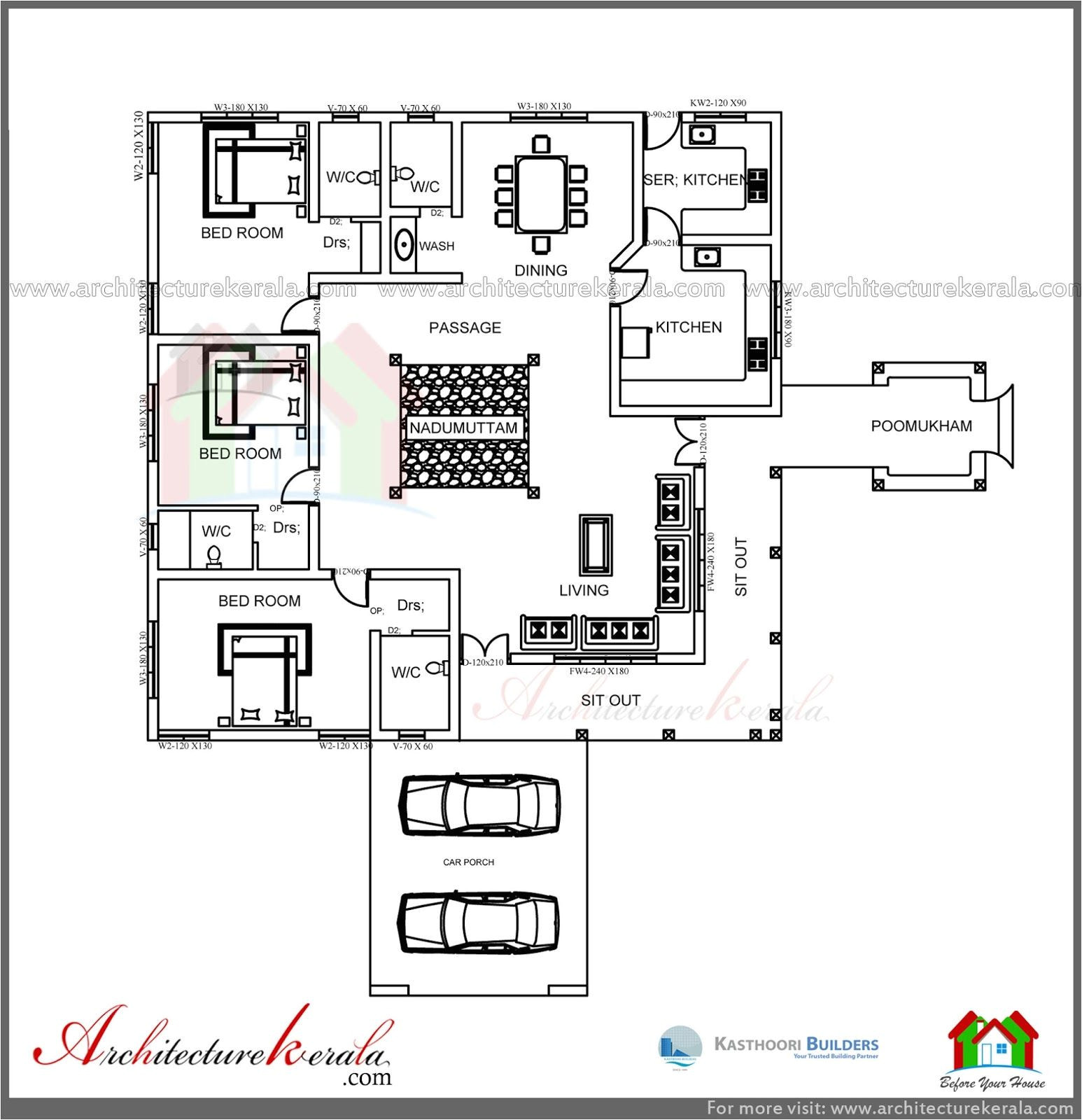 kerala traditional house plans with cost