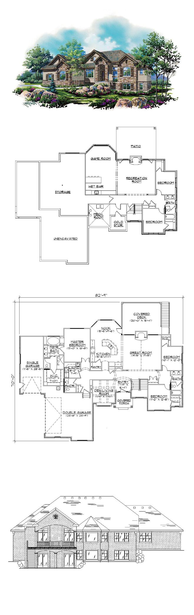 house plans with finished basements