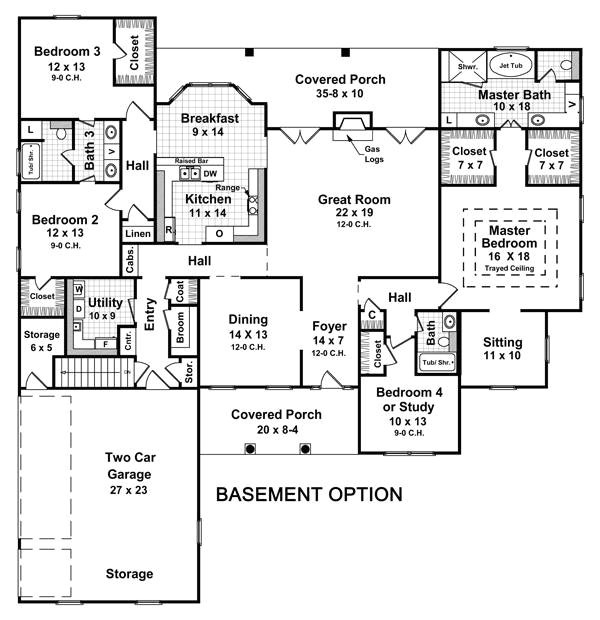 house plans with finished basement