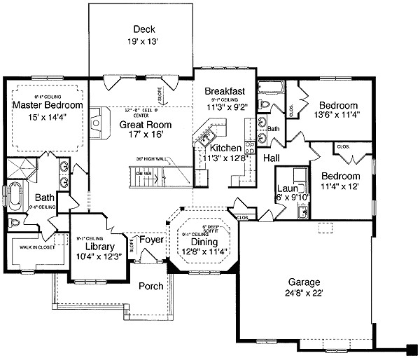 ranch finished basement house plans