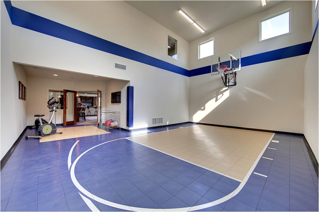 home floor plans with indoor sport court