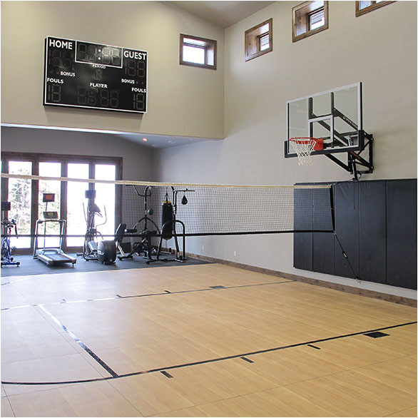 home plans with indoor sports court