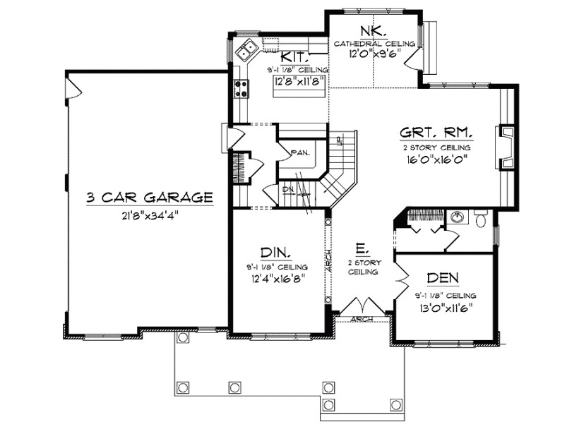 house plans with large pantry