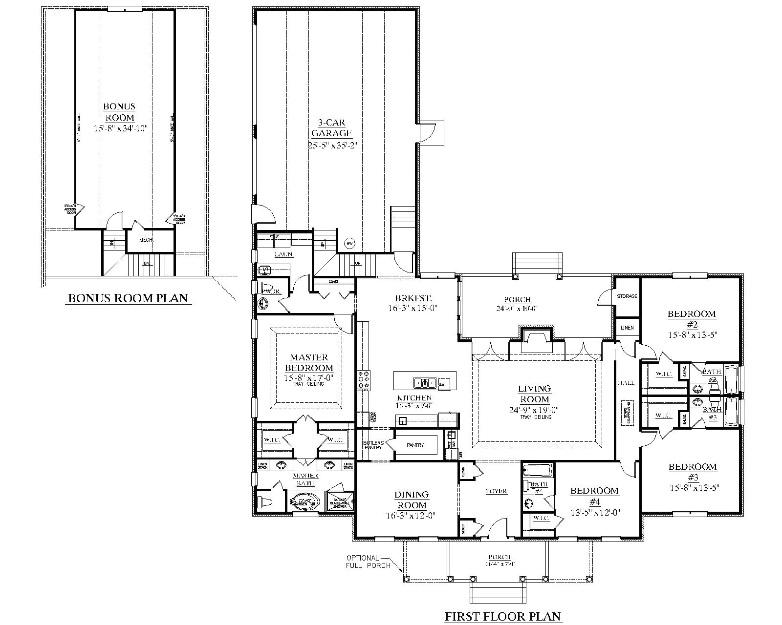 House Plans with Large Kitchens and Pantry southern Heritage Home Designs House Plan 3014 A the