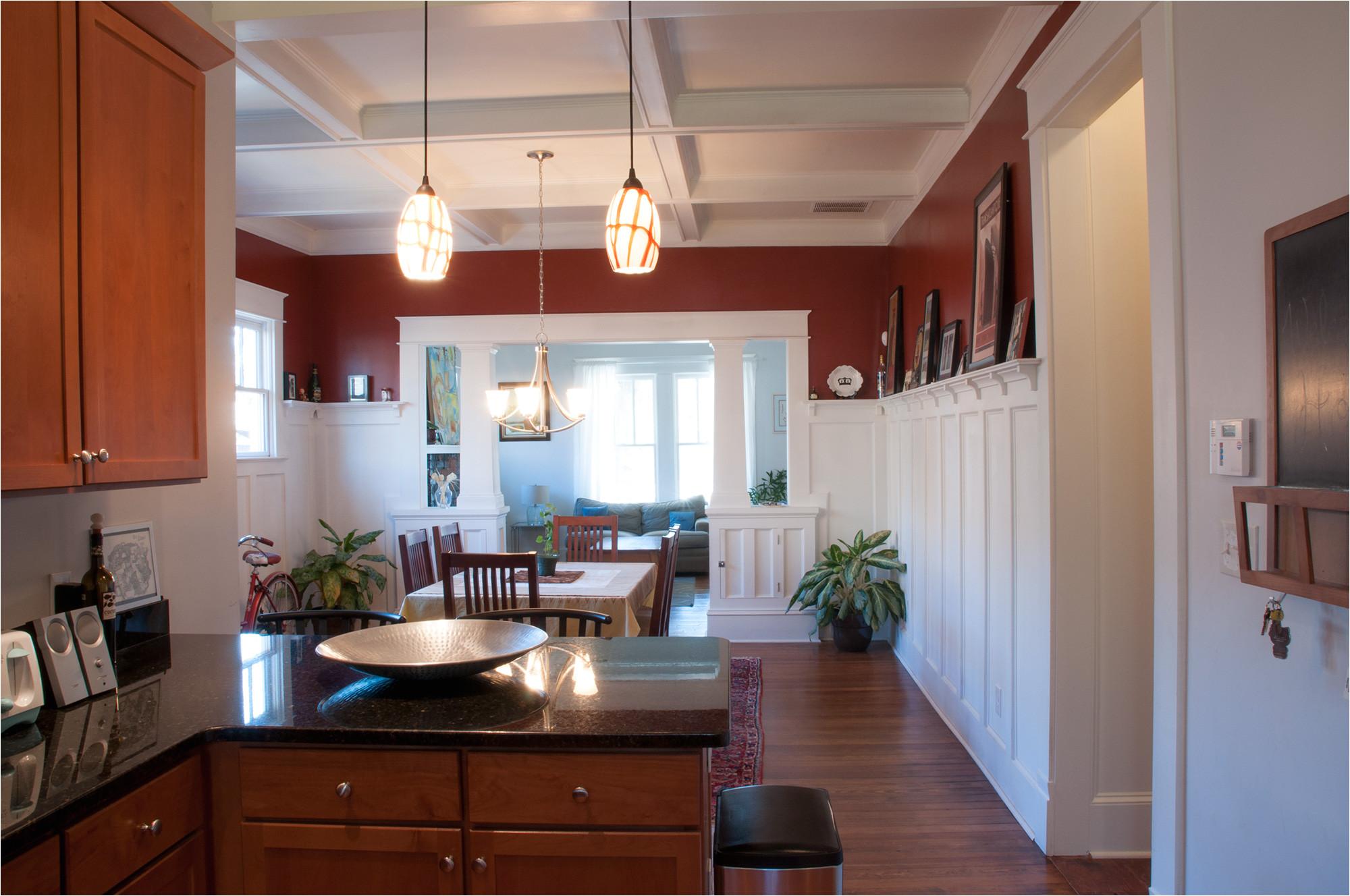 combination kitchen and living room open floor plan
