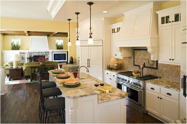open kitchen floor plans