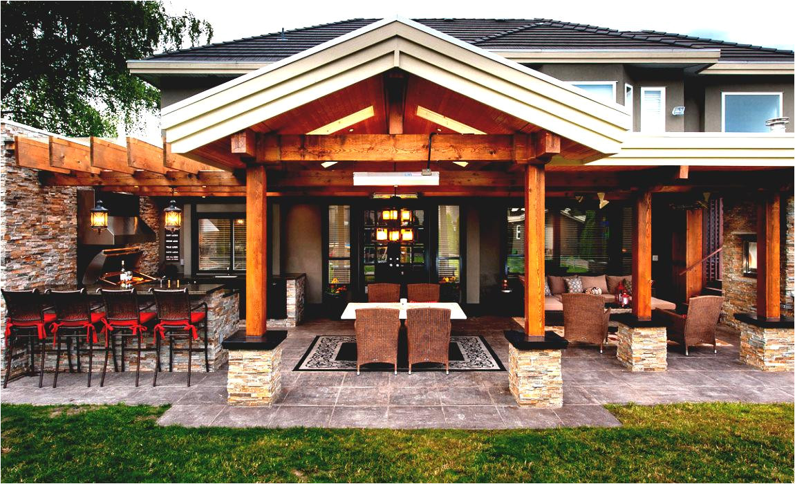 gorgeous pool house with outdoor kitchen plans