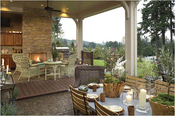 House Plans with Outdoor Kitchens Sizzling Outdoor Kitchen Designs the House Designers