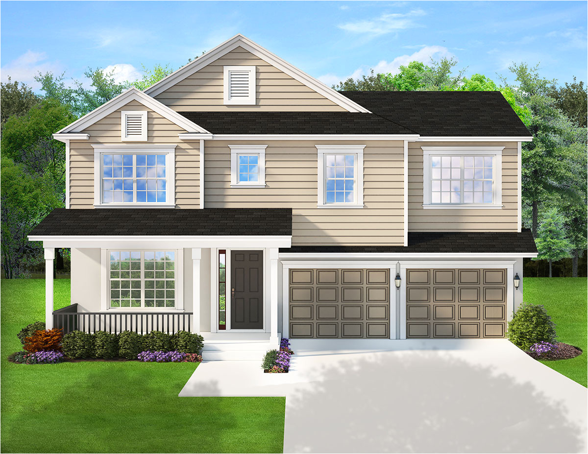 traditional house plan with porches front and back 82205ka